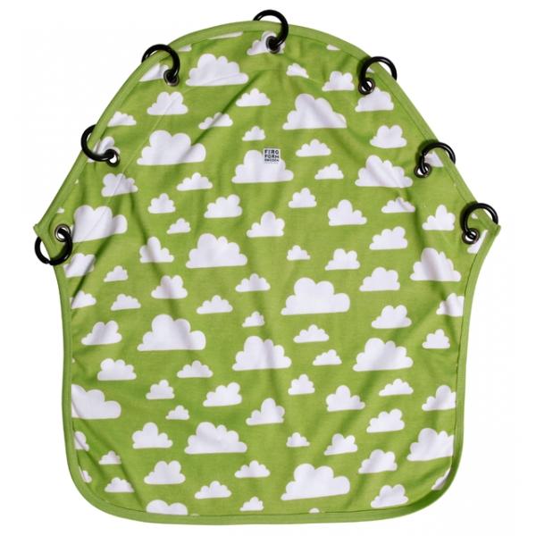 Barnvagnsdraperi moln grön Färg & Form