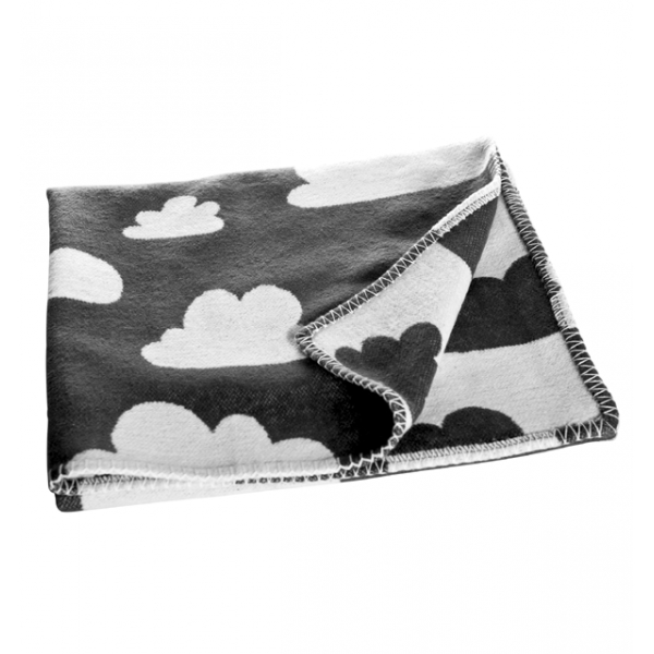 Barnfilt moln svart Färg & Form