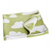 Barnfilt moln grön Färg & Form