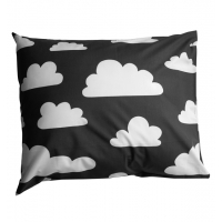 Örngott moln svart (öko-tex) Färg & Form