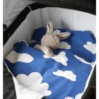Bäddset moln svart till barnvagn (öko-tex) Färg & Form