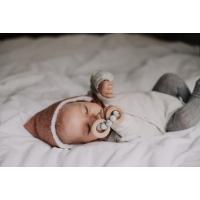 Bitring by Baby Bubbles Gråmärlad/Trä med 3 Ringar