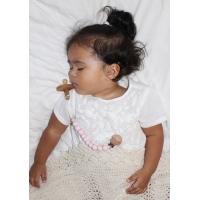 Napphållare by Baby Bubbles Rosa med en träkula