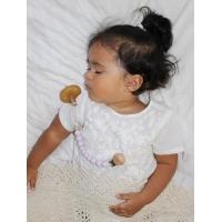 Napphållare by Baby Bubbles Lila med en träkula