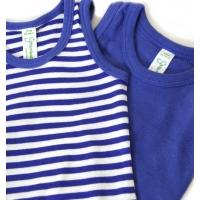 2-pack bodys blå (74-80)