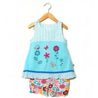 Barnklänning med bloomer shorts (62)