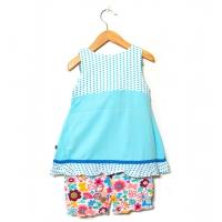 Barnklänning med bloomer shorts