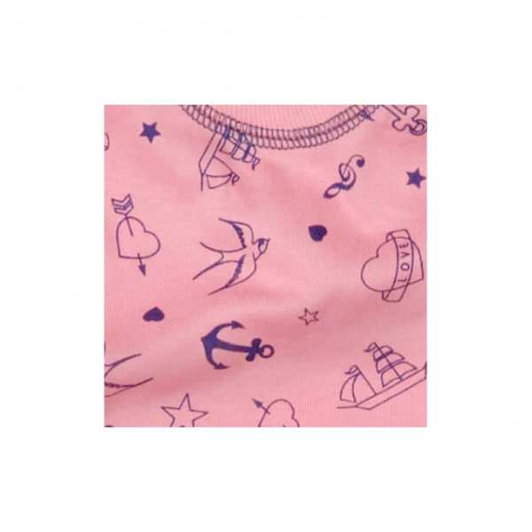 Jumpsuit tattoo rosa
