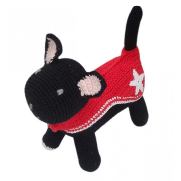 Mjukdjur hund svart 'Mary Jane'
