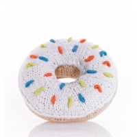 Baby skallra doughnut vit