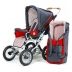 Barnvagn Terra - grå | röd