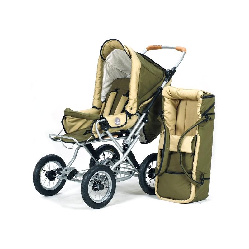 Barnvagn Terra - grön | beige