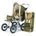Barnvagn Terra - grön   beige