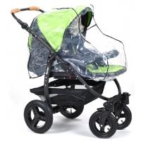 Regnskydd genomskinlig barnvagn