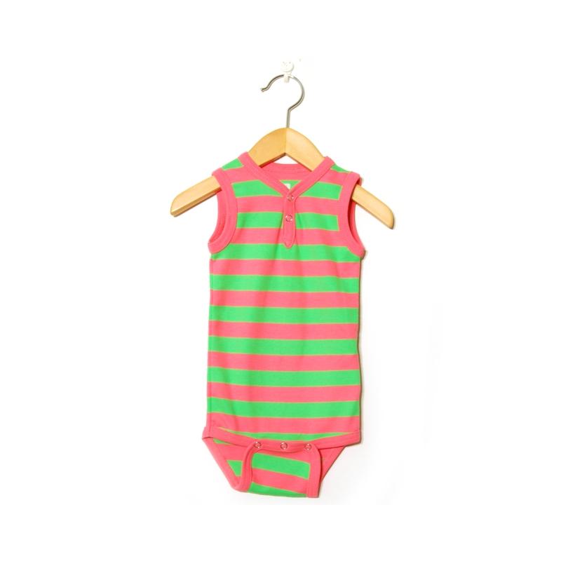 Katvig bodys ärmlös rosa | grön