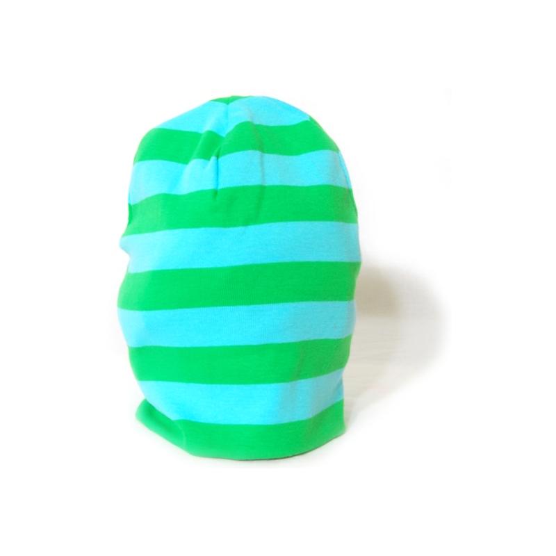 Katvig barnmössa randig aqua | grön