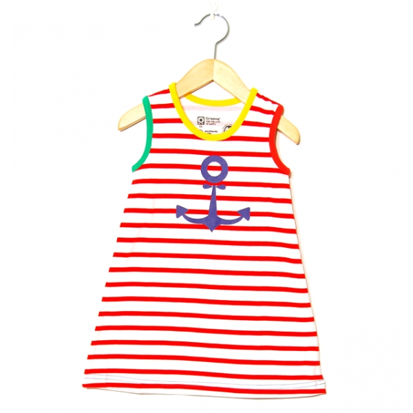 Katvig barnklänning marin