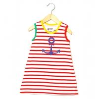 Katvig barnklänning marin (74 till 110)