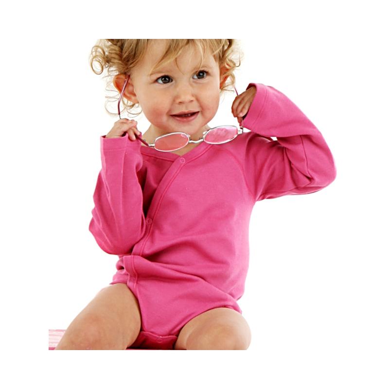 Baby body omlott rosa
