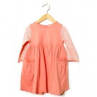 Barnklänning aprikos (104)