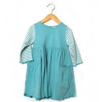 Barnklänning blå (86, 104)