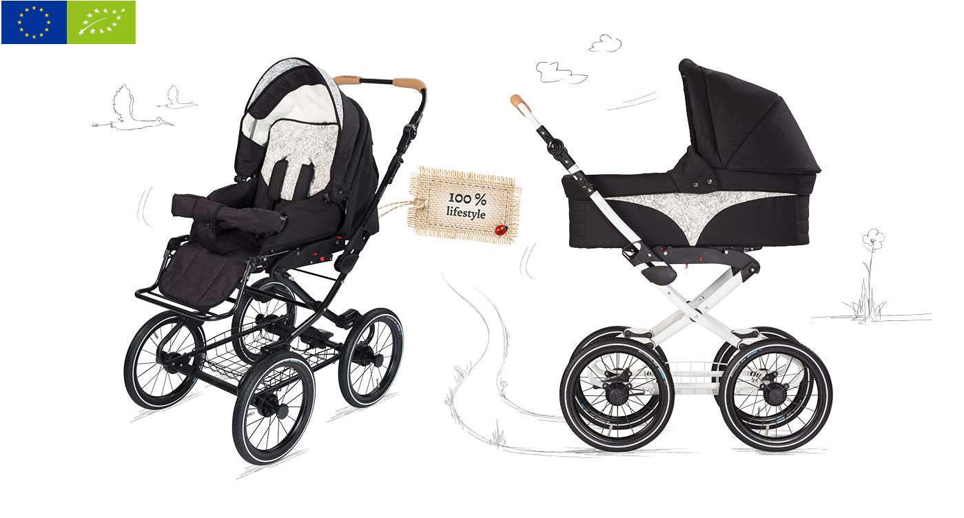Ekologisk barnvagn Vita